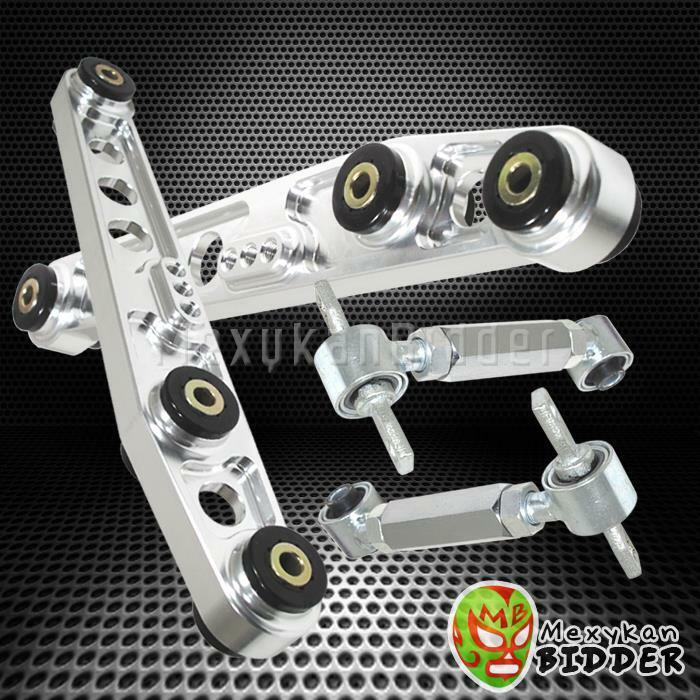 Dme Suspension Rear Lower Control Arms For 1998 Honda Civic: POLISHED LOWER CONTROL ARM SUSPENSION REAR CAMBER KIT