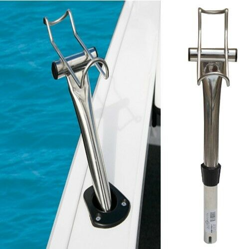 One stainless steel boat fishing rod holder yacht rod for Steel fishing rod
