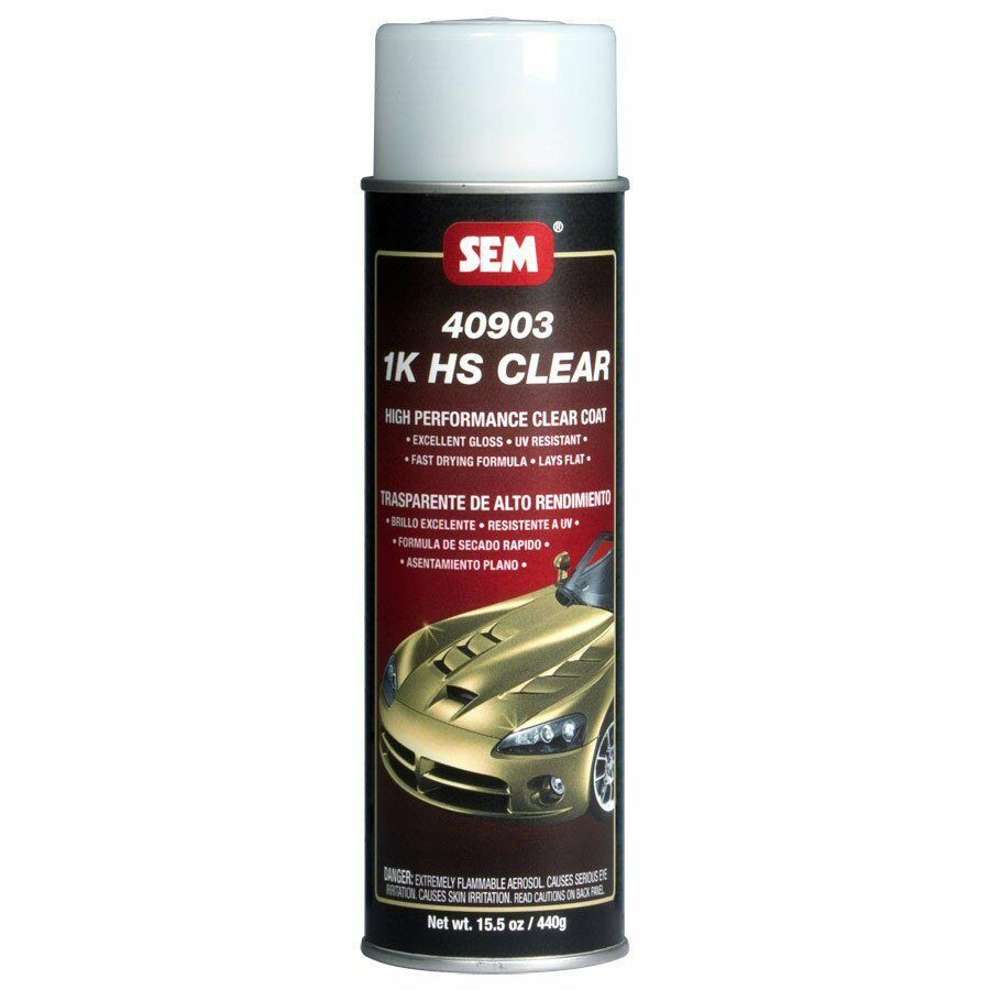sem 40903 1k high solids gloss clear coat aerosol spray. Black Bedroom Furniture Sets. Home Design Ideas