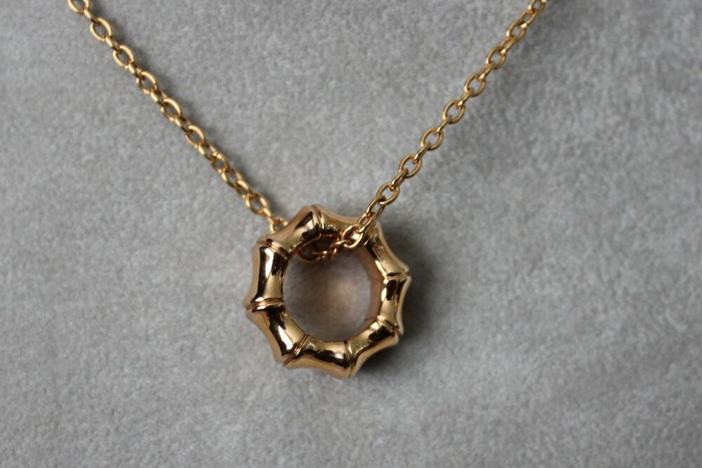 Gucci 18k Rose Gold Bamboo Pendant 16 Quot Retail 1850 Ebay