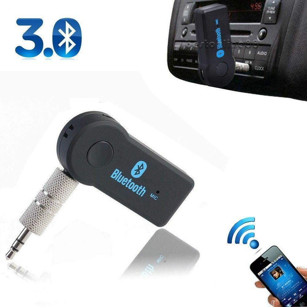 Wireless Bluetooth 3.5mm AUX Audio Stereo Music Home Car Receiver Adapter Mic TO