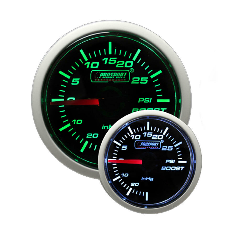 Universal Auto Gauges : Prosport mm mechanical universal boost turbo gauge