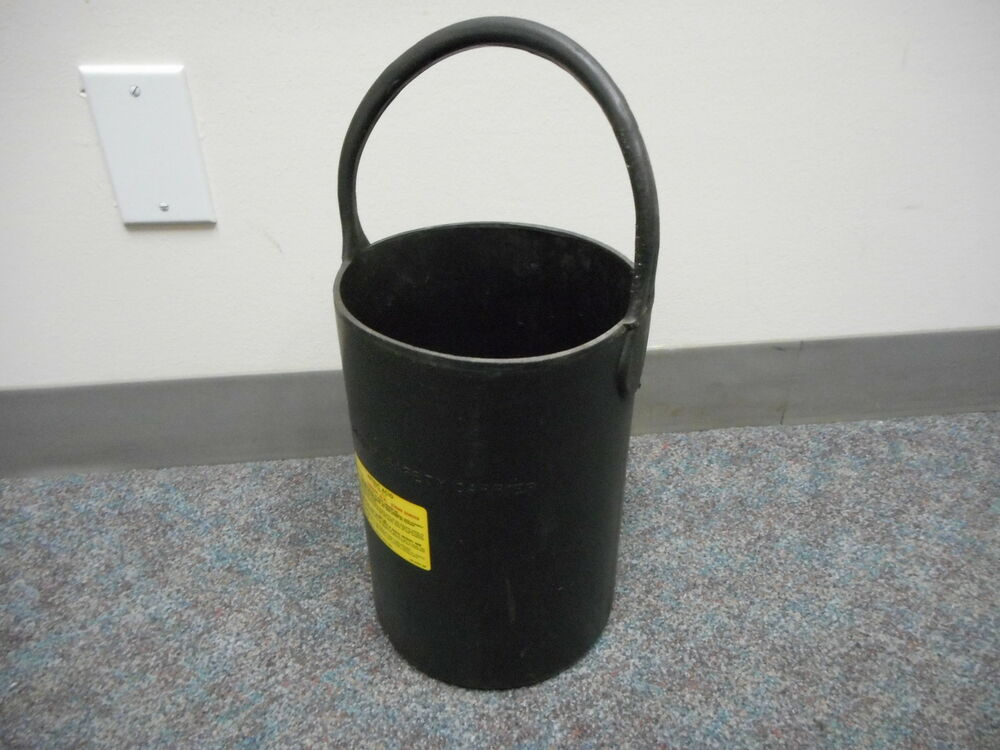 Fisher Safety Carrier 1 Gallon Rubber Bucket Pail Ebay