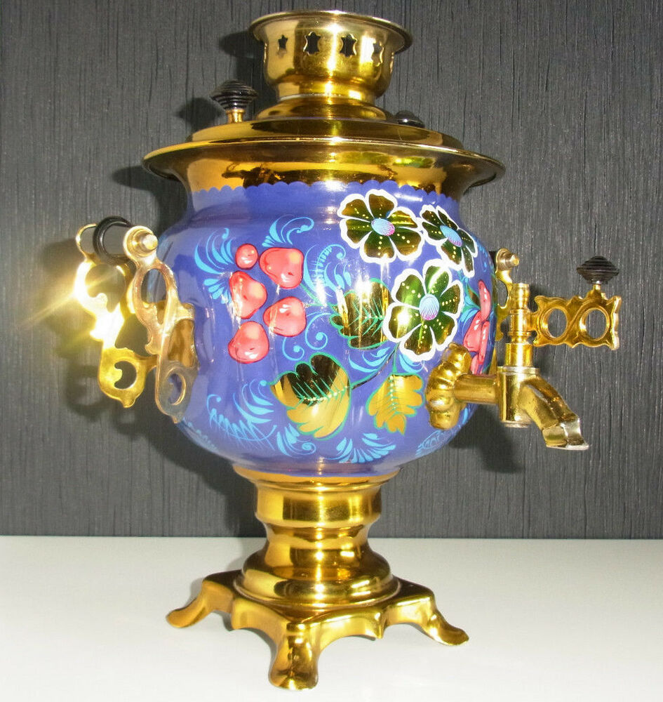 Vintage Russian Electric Samovar Painted Old Samowar Water