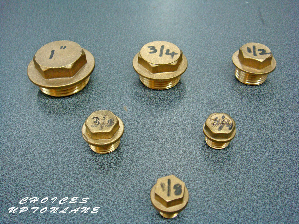Brass hex flanged male blanking cap stop end quot