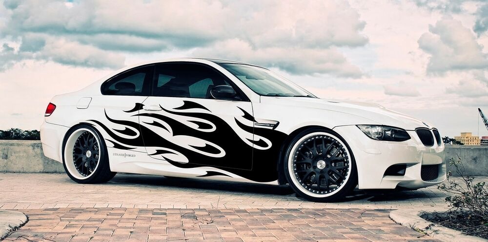 Vinyl Car Side Graphics Decal Flame Body Sticker For Any