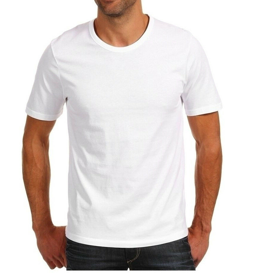 Mens t shirt white 3 pack basic crew neck cotton t shirts for Mens white cotton t shirts