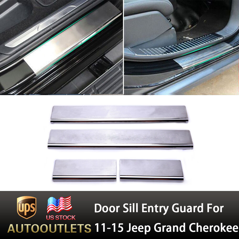 For 11 15 Jeep Grand Cherokee Door Sill Entry Guard Protection