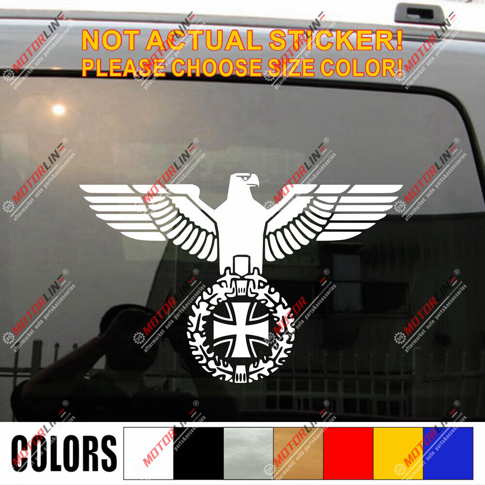 Truck Stickers For Back Window >> German Army Deutschland Iron Cross Eagle German Army Car ...