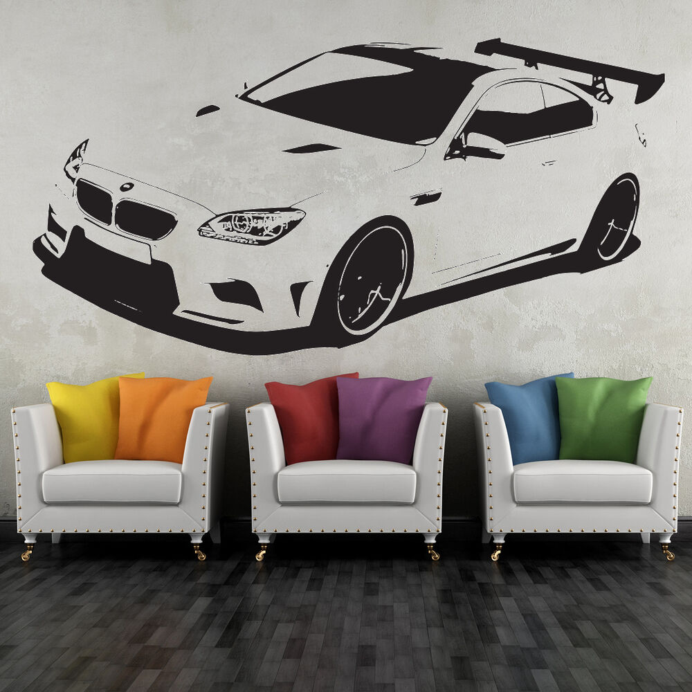 wandtattoo bmw m sportwagen wandbild auto deko aufkleber wand tattoo ebay. Black Bedroom Furniture Sets. Home Design Ideas