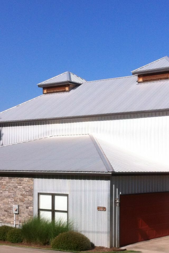 26ga bare galvalume metal roofing steel siding sheet With barn sheet metal siding