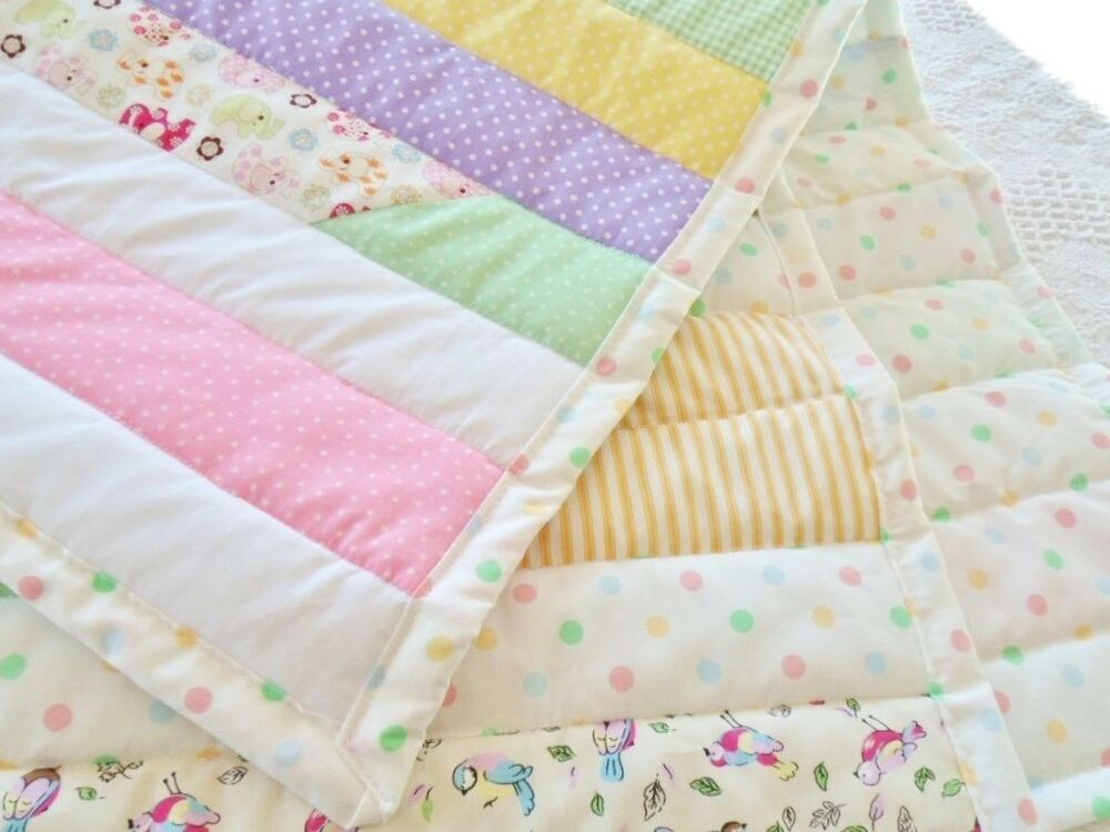 Patchwork Quilting Kit Jelly Roll Race Quilt Cot Baby
