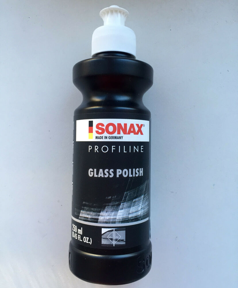 sonax profiline abrasive glass window polish polishing paste car auto 250ml ebay. Black Bedroom Furniture Sets. Home Design Ideas