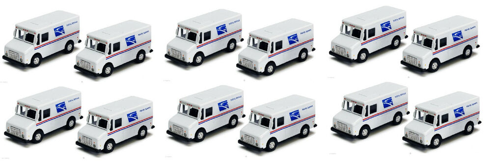 12 x usps truck united states us postal service mail delivery diecast