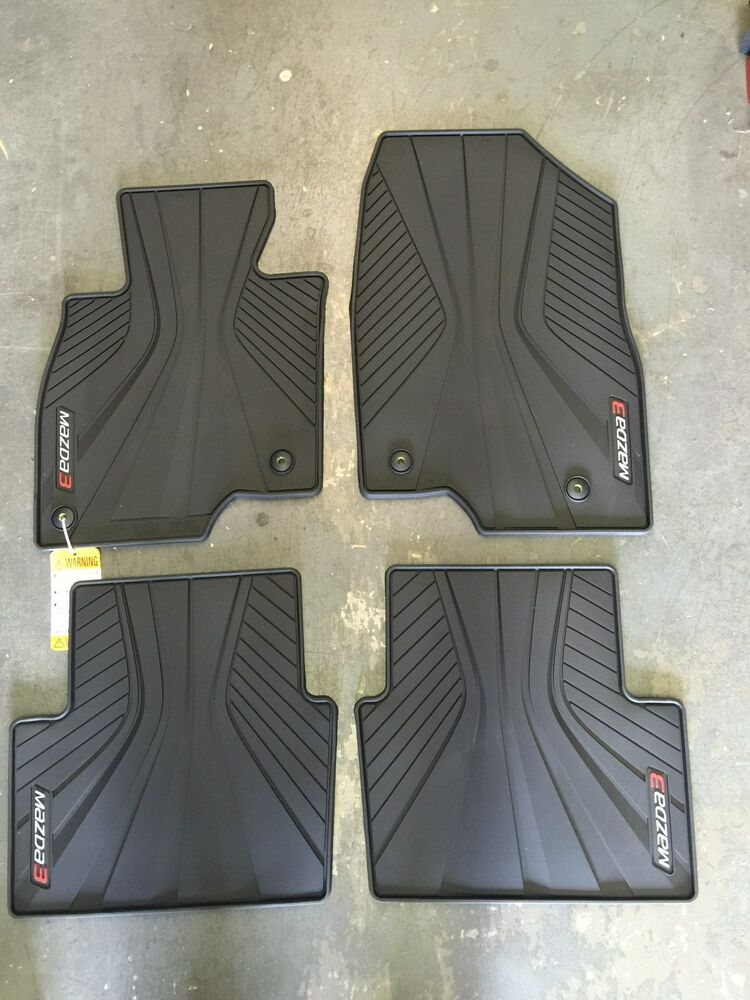 mazda 3 oem all weather floor mats new set of four ebay. Black Bedroom Furniture Sets. Home Design Ideas