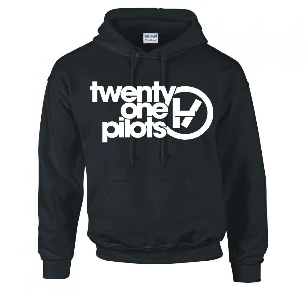 twenty one pilots band logo hoodie new ebay. Black Bedroom Furniture Sets. Home Design Ideas