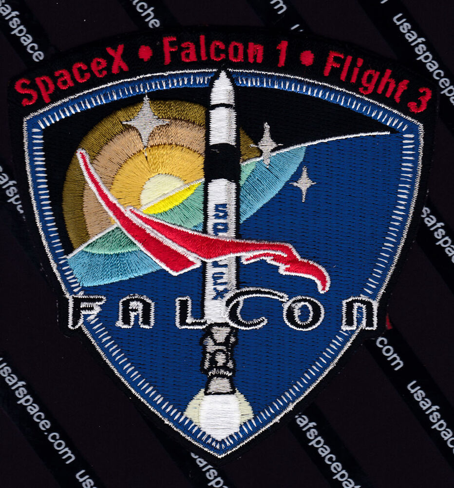 SpaceX Falcon 1 Flight 3 ORIGINAL SPACE MISSION PATCH MINT ...