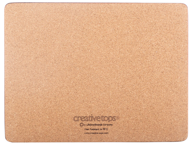 Set Of 6 Peacock Premium Cork Backed Placemats Ebay