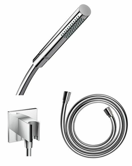 hansgrohe axor starck baton hand shower 1 jet wall outlet. Black Bedroom Furniture Sets. Home Design Ideas