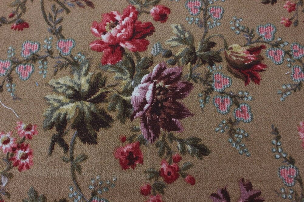 Antique french victorian home weight floral rose for Victorian floral fabric