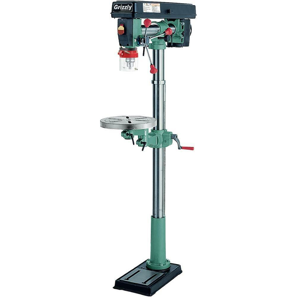 G7946 Grizzly 5 Speed Floor Radial Drill Press | eBay