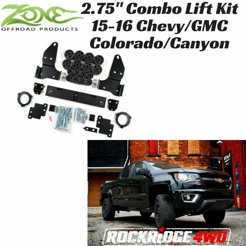zone combo lift kit fits 2015 2016 chevy gmc colorado canyon 4wd 2wd c1257 ebay. Black Bedroom Furniture Sets. Home Design Ideas