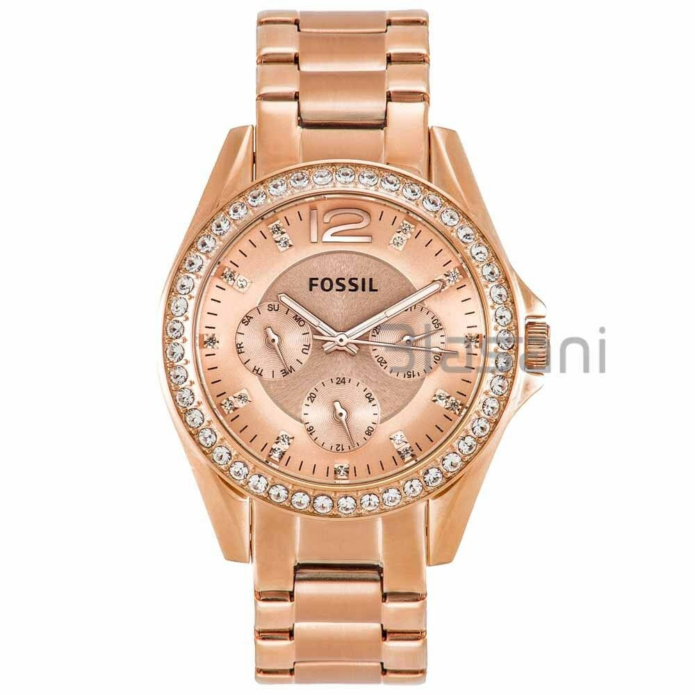 fossil original es2811 women 39 s riley rose gold stainless steel watch 38mm 691464629922 ebay. Black Bedroom Furniture Sets. Home Design Ideas