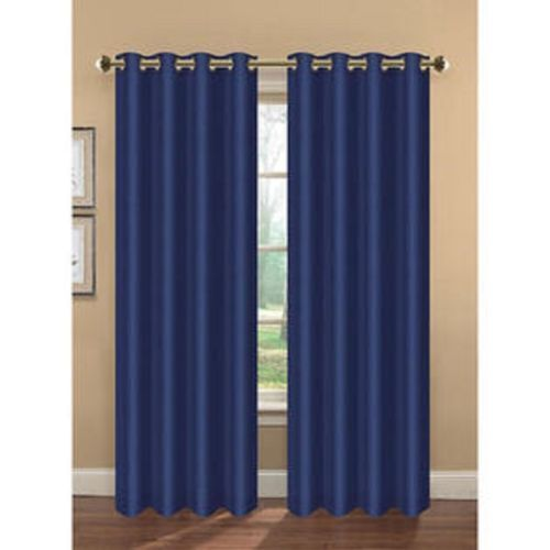 1 Navy Blue Panel Thermal Lined Blackout Grommet Window