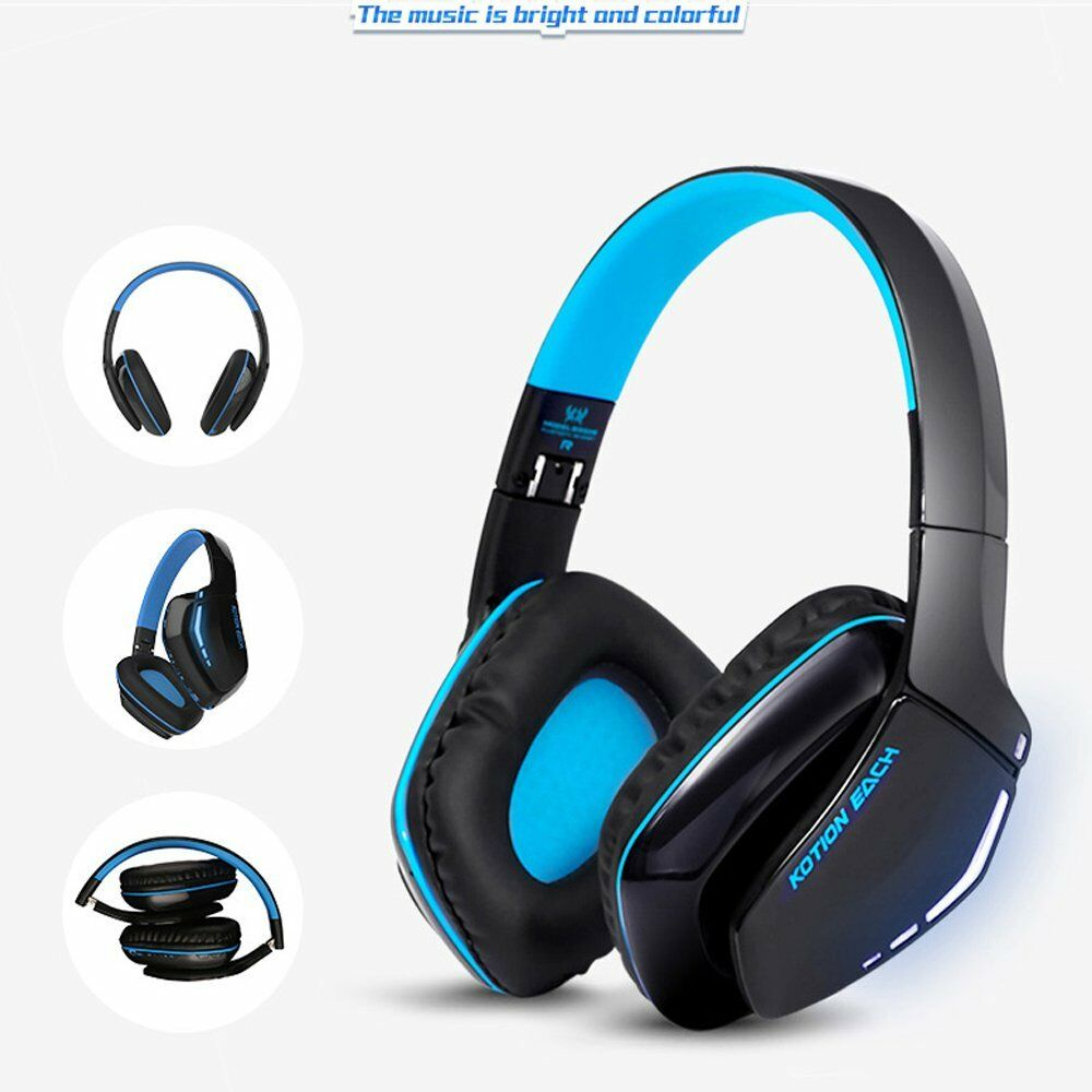 sports wireless bluetooth v4 1 handsfree headset music gaming for ps4 xbox on. Black Bedroom Furniture Sets. Home Design Ideas
