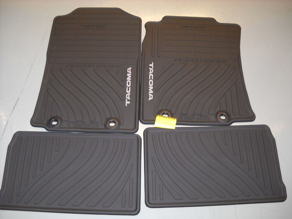 toyota tacoma rubber floor mats autos post. Black Bedroom Furniture Sets. Home Design Ideas