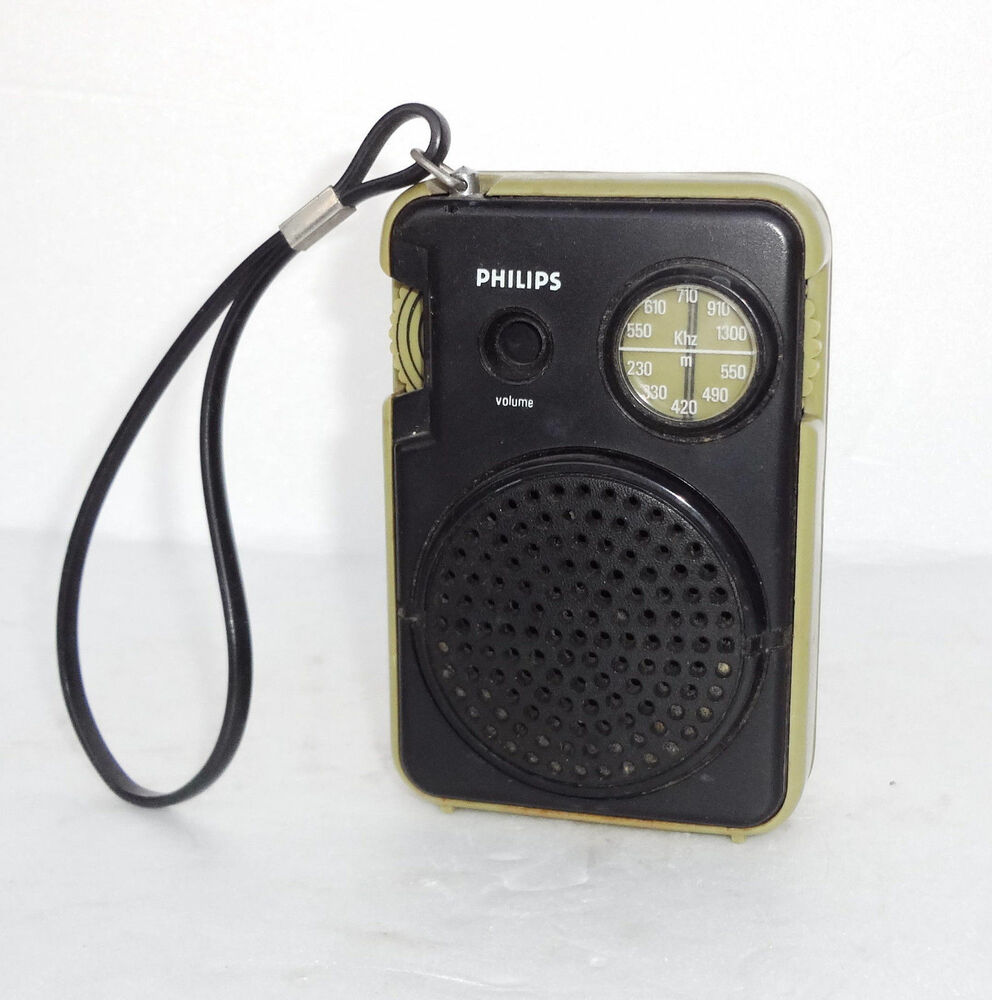 vintage retro 1977 transistor micro pocket space age radio philips al 071 ebay. Black Bedroom Furniture Sets. Home Design Ideas