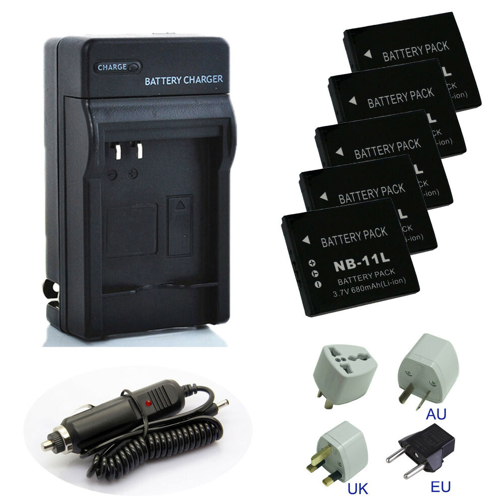 Battery Charger Pack For Canon Powershot Elph 160 Elph