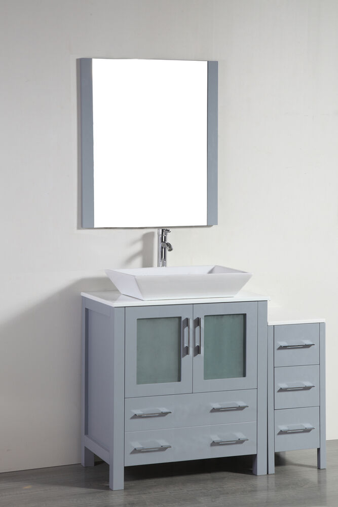 Blossom 30 Sydney Single Sink Bathroom Vanity With Vessel Sink In Grey Color Ebay