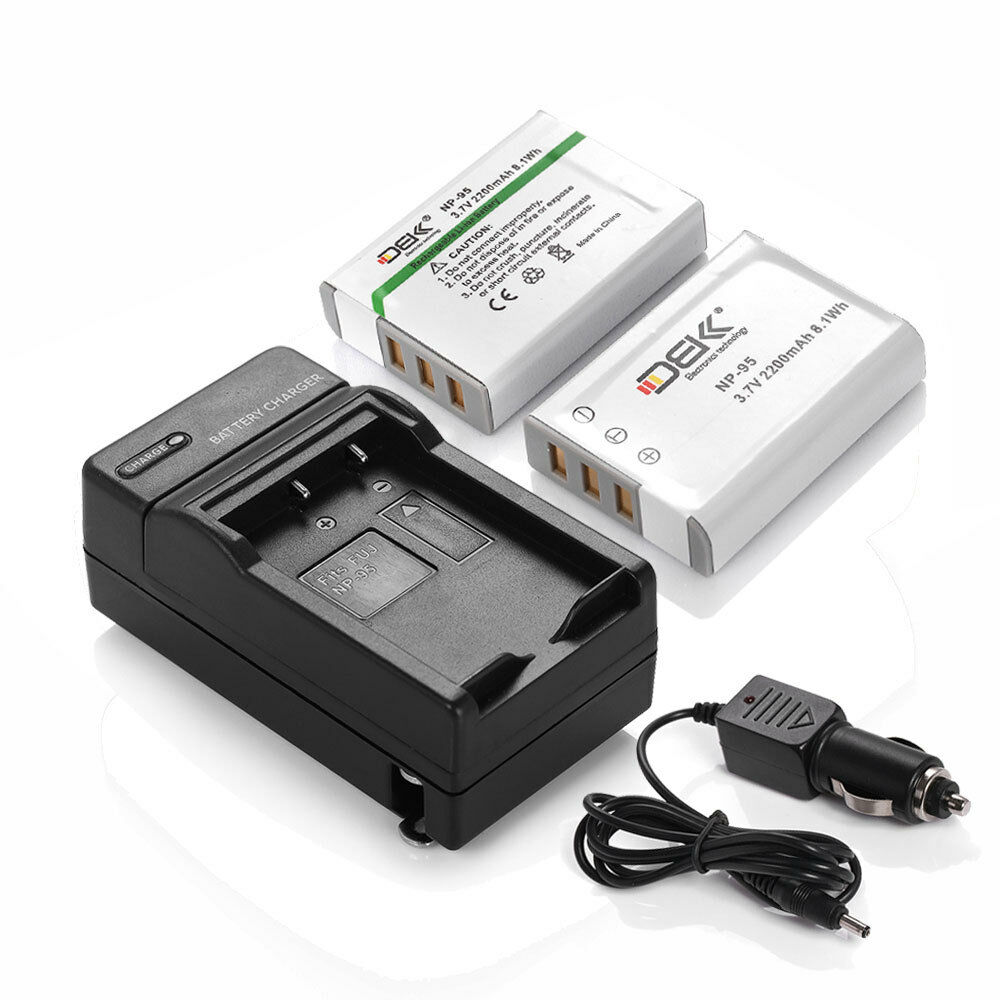 2 Np 95 Battery Charger For Fujifilm Fuji Finepix X100s