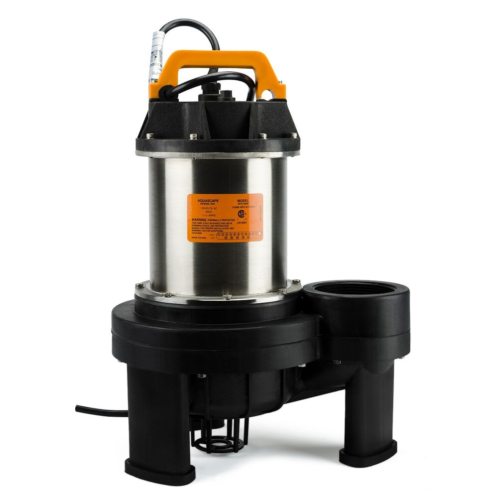 Aquascapepro 10000 pump for koi and goldfish ponds 20060 for Fish pond pumps and filters