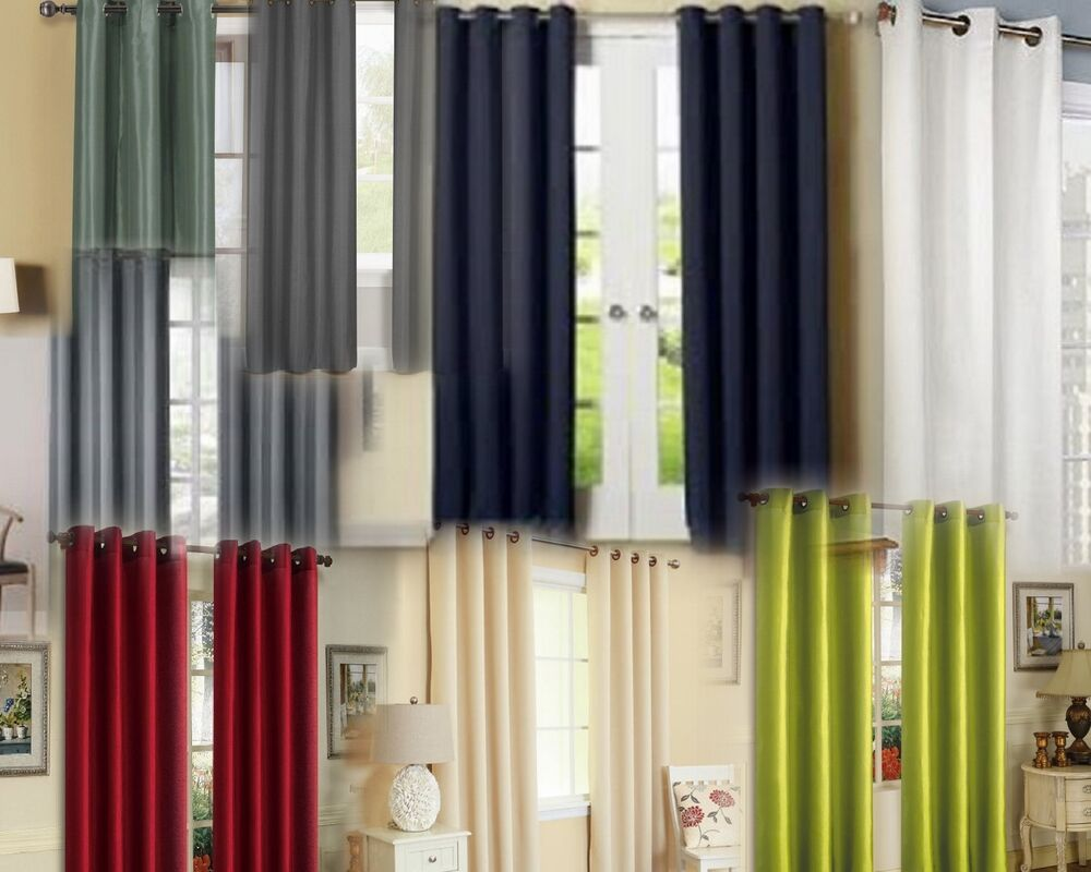Lined Curtain Panels With Grommets 4 Panels Grommets Faux