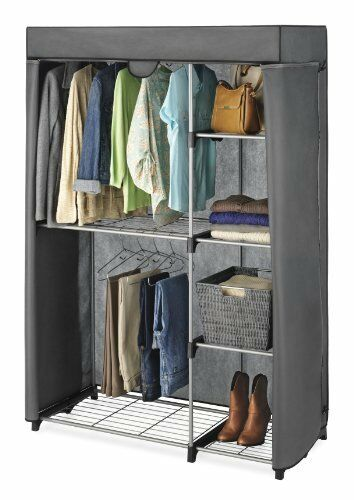 Whitmor Double Rob Closet Cover Only Clothes Wardrobe Rack