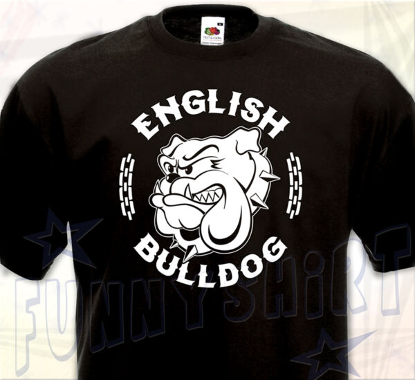 T-SHIRT ENGLISH BULLDOG - Anglais Molosse Chien Dog British Spike Bull Bully TEE