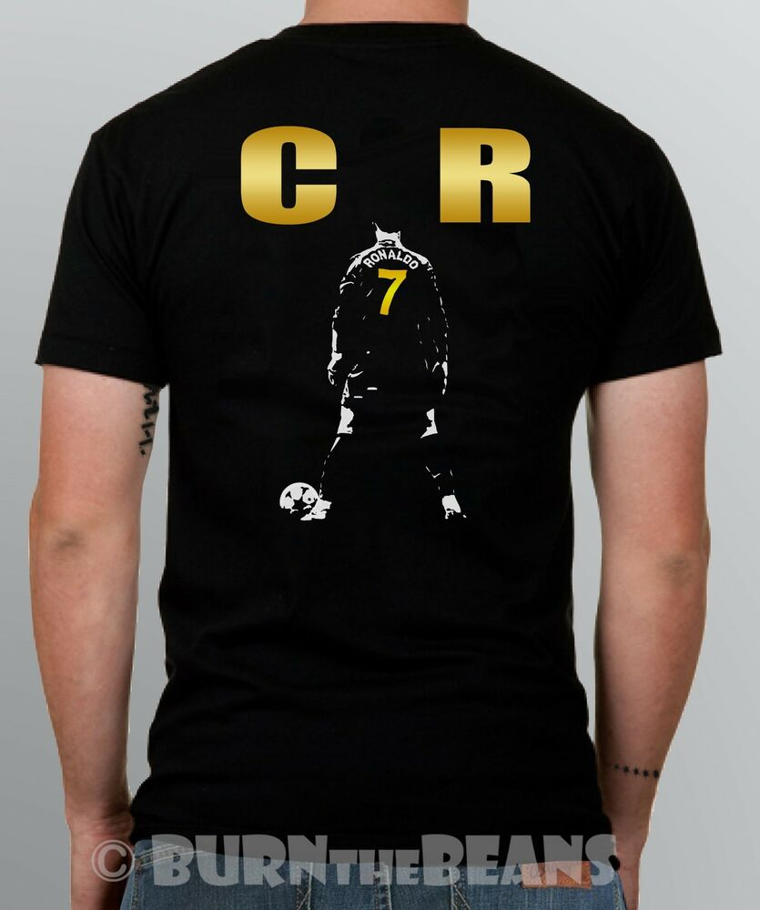 ronaldo t shirt cristiano cr7 real madrid portugal s 5xl. Black Bedroom Furniture Sets. Home Design Ideas