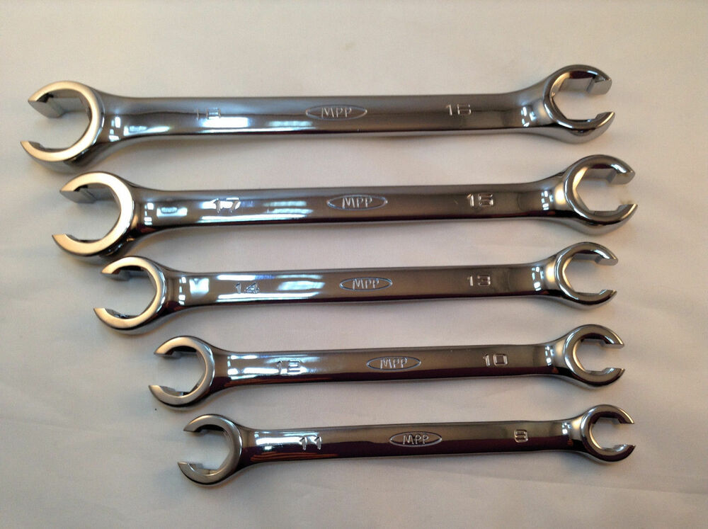 Pcs metric point flare nut wrench set w
