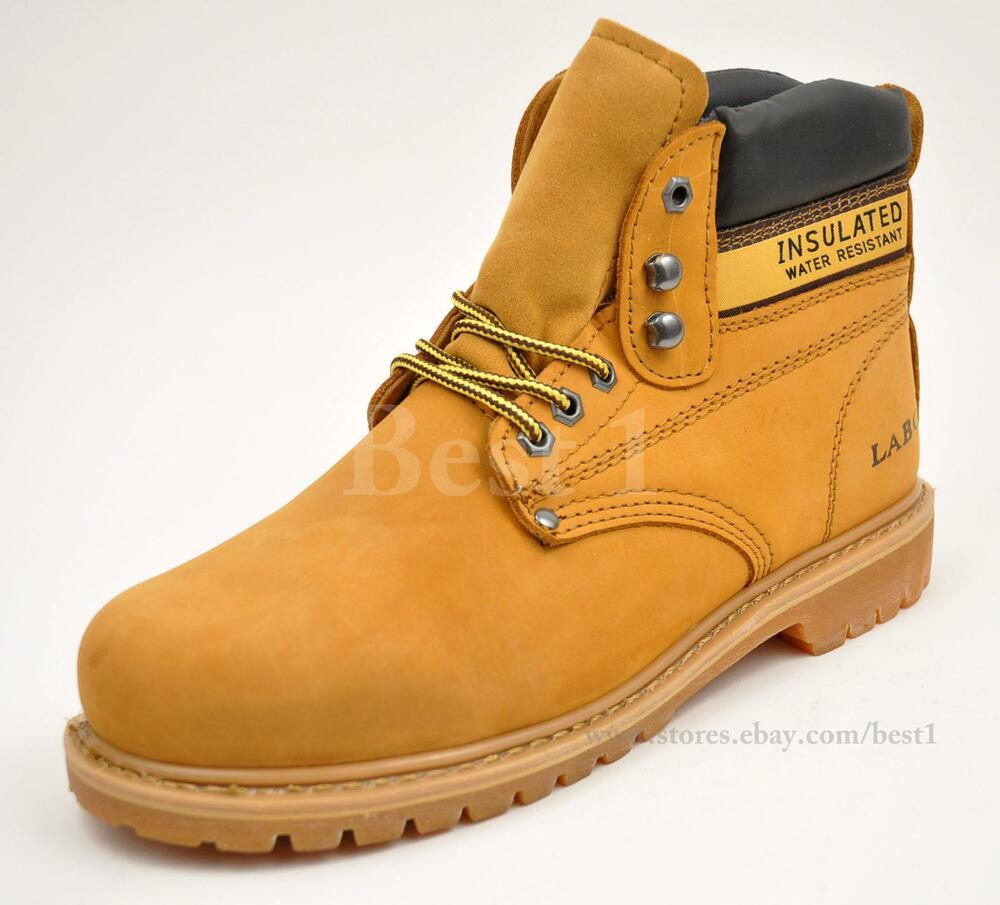 labo s yellow work boots shoes genuine leather