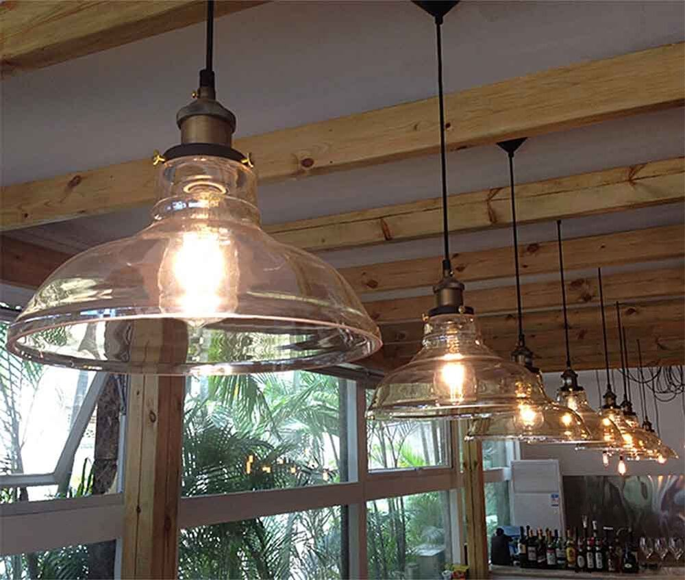 modern clear vintage glass ceiling lamp shade pendant light