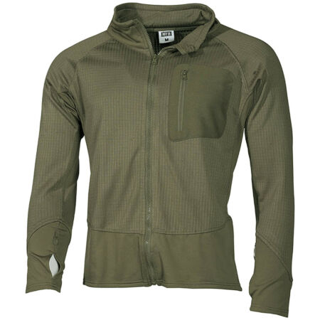 img-MFH US TACTICAL SOFT SHELL FLEECE JACKET HIKING BASE LAYER FAST DRYING TOP OLIVE