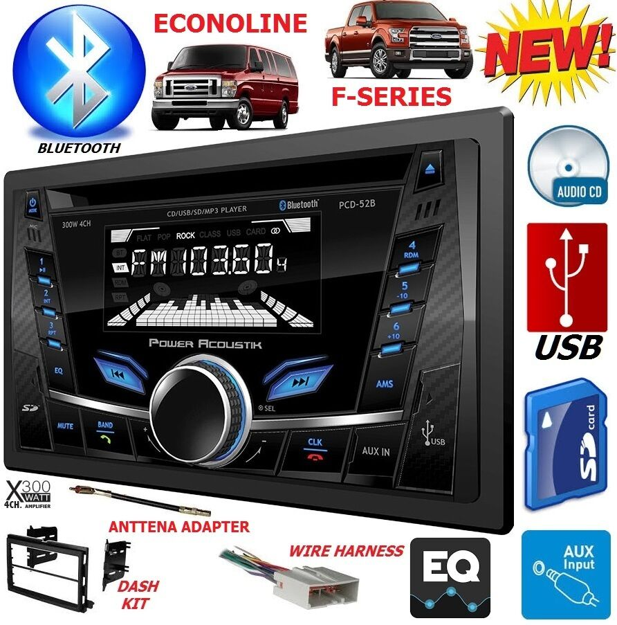 04 16 ford f series e series cd bluetooth usb aux car. Black Bedroom Furniture Sets. Home Design Ideas
