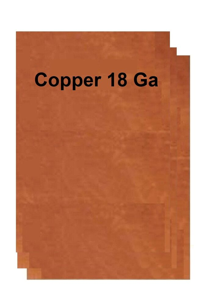 Copper Sheet Metal 18 Ga 20 Variations Sizes To Choose