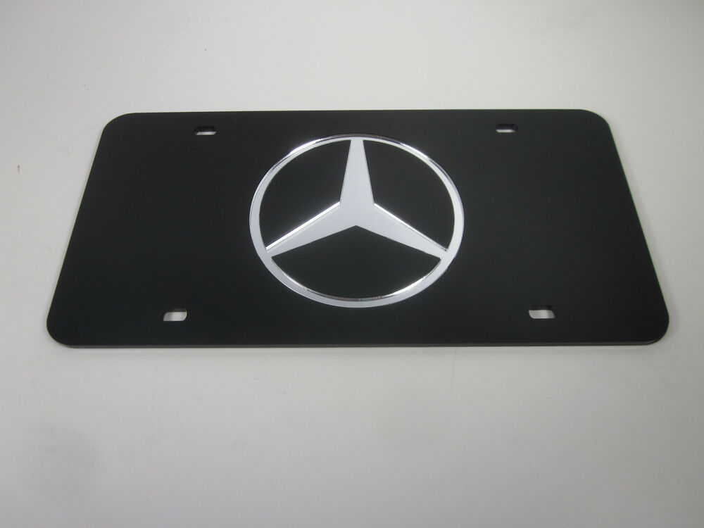 Mercedes benz acrlic mirror license plate auto tag nice ebay for Mercedes benz tag