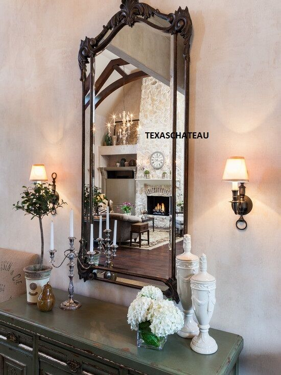 Large Tuscan French Arched Wall Mirror Arch Spanish