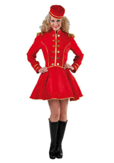 Bell Boy Hat Check Girl Circus Cinema Usher Costume