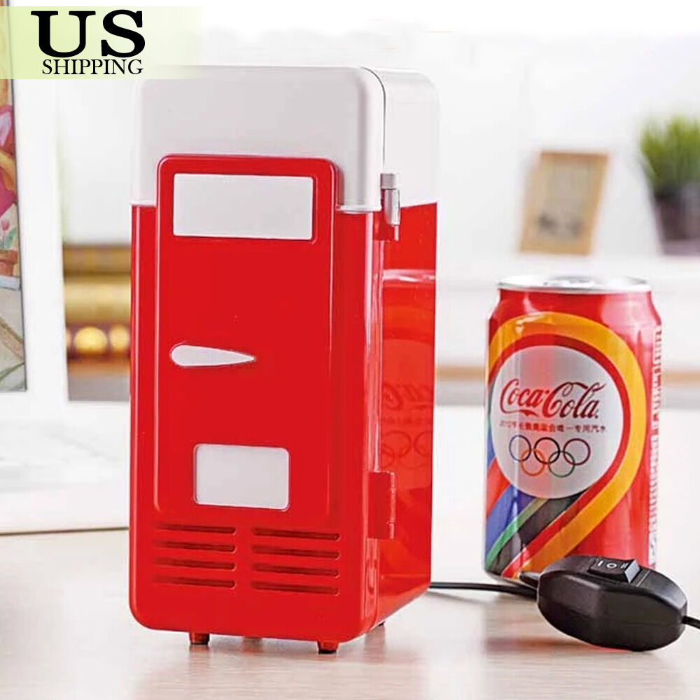 Desktop Beverage Cooler ~ Mini usb led pc refrigerator fridge beverage drink cola