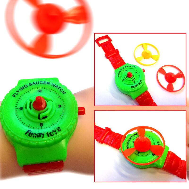 Flying Toys For Boys : Flying saucer watch shooting toy gadget boys girl